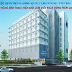 Bệnh viện Đa khoa Quốc tế Hải Phòng – Vĩnh Bảo thông báo thực hiện giờ làm việc mùa đông năm 2020