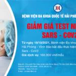 Bệnh viện đa khoa Quốc tế Hải Phòng – Vĩnh Bảo giảm giá Test nhanh Sars – CoV2 chỉ còn 160.000 vnđ/mẫu